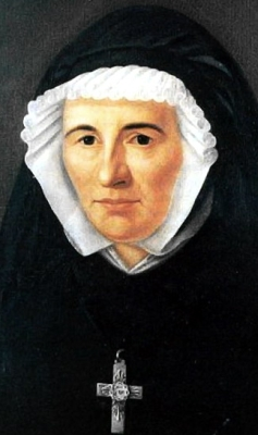 19th century portrait of Sainte Claudine Thévenet, artist unknown; swiped from Wikimedia Commons