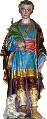 statue of Saint Gratien of Amiens, date and artist unknown; swiped from Santi e Beati