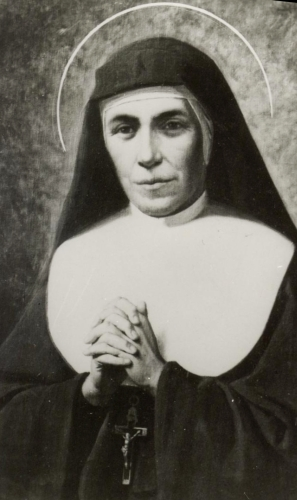 portrait of Saint Maria Mazzarello, 1951, artist unknown; swiped from Wikimedia Commons