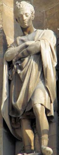 statue of Saint Napoleon of Alexandria, date and sculptore unknown; swiped from Santi e Beati