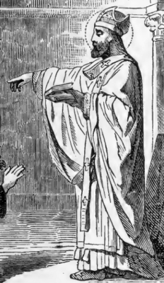 detail of the illustration of Saint Richard of Chichester from Pictorial Lives of the Saints
