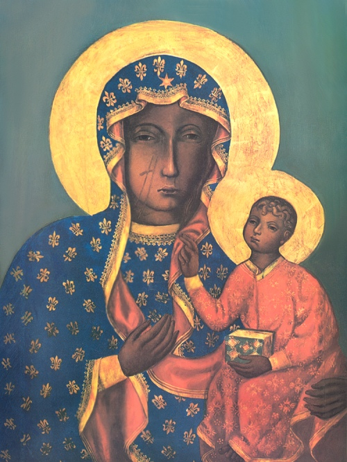 Only Black Wallpaper Our Lady Of Czestochowa