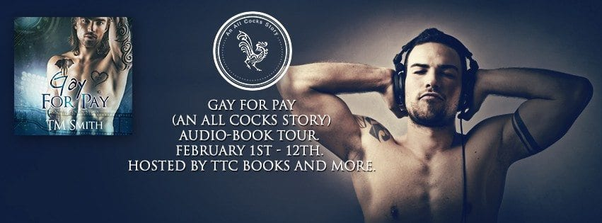#listenwithme~~Gay for Pay Audiobook by T.M. Smith~Behind the scenes and a Giveaway