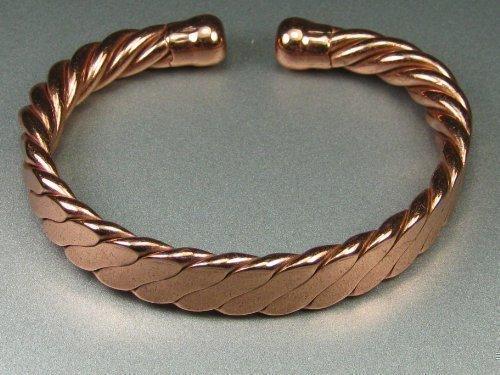 Buy Magnetic Men39s Heavy Flattened Copper Bracelet Mcb023