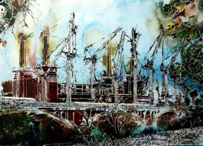 ©2015-Cathy-Read-Battersea-Reborn-Watercolour-and-Acrylic-55-x-75cm - £810 unframed