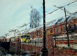 ©2015 - Cathy Read - Piccadilly Bound - Watercolour and Acrylic - 55 x 75cm £810 unframed