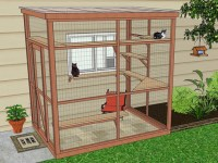 DIY Catio Plan: The Sanctuary Catio Plans with 6x8 and ...