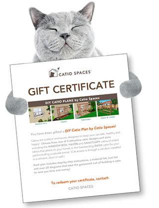 Gift Certificates DIY Catio Plans - Catio Spaces