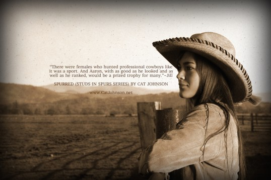 Spurred Studs in Spurs Cowboy Romance Quote Graphic