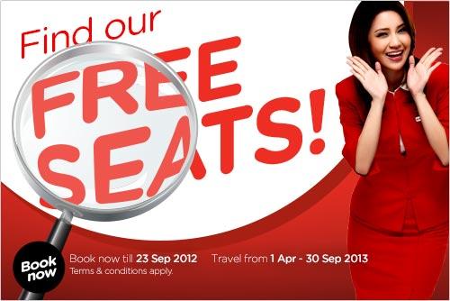 Air Asia Free Seat Promo