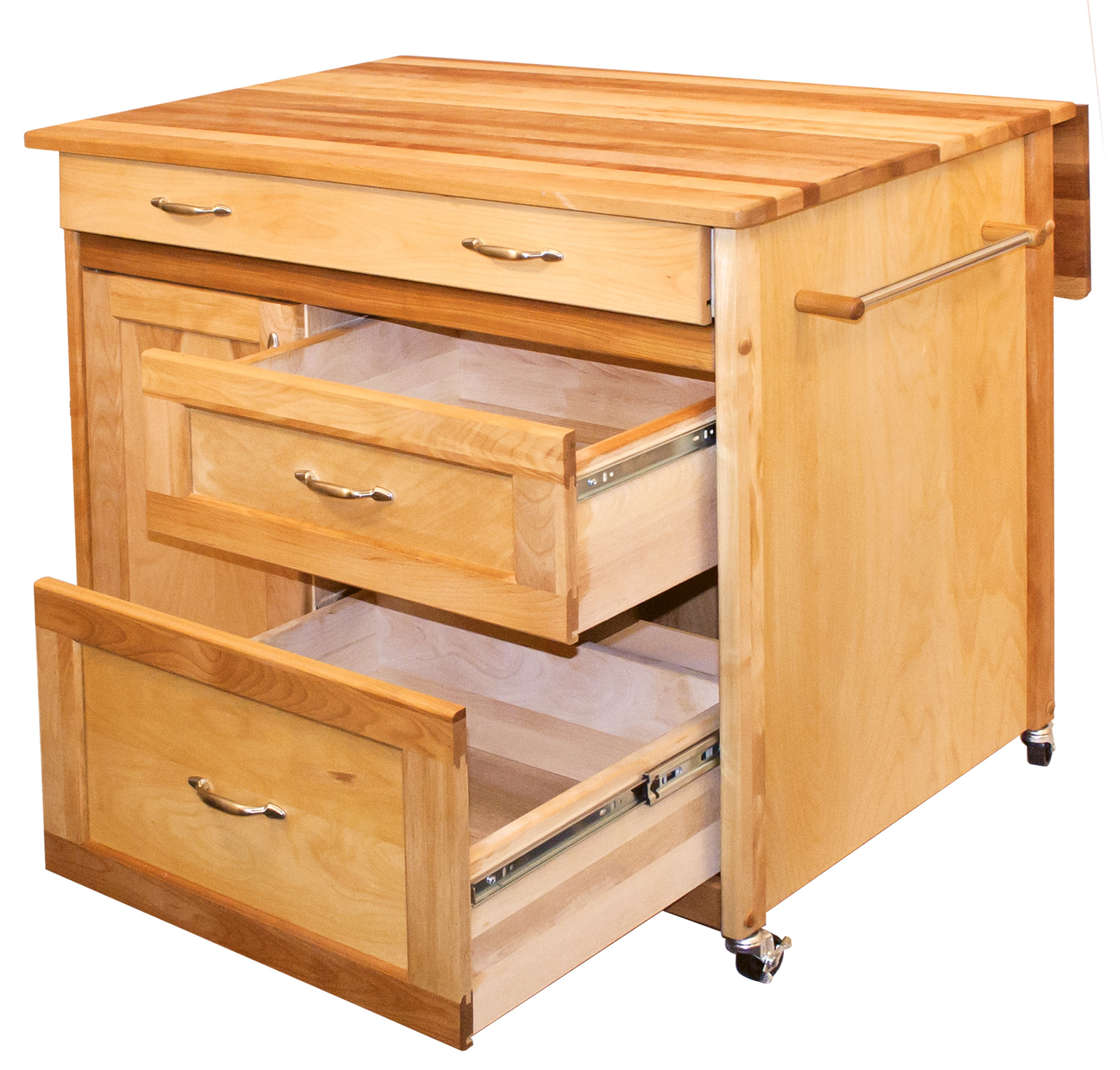 Kitchen Island With Locking Casters Catskill Craftsmen Mid-sized Drawer Island Model 1521