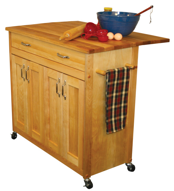 Kitchen Island With Locking Casters Catskill Craftsmen Deep Island With Flat Panel Doors And
