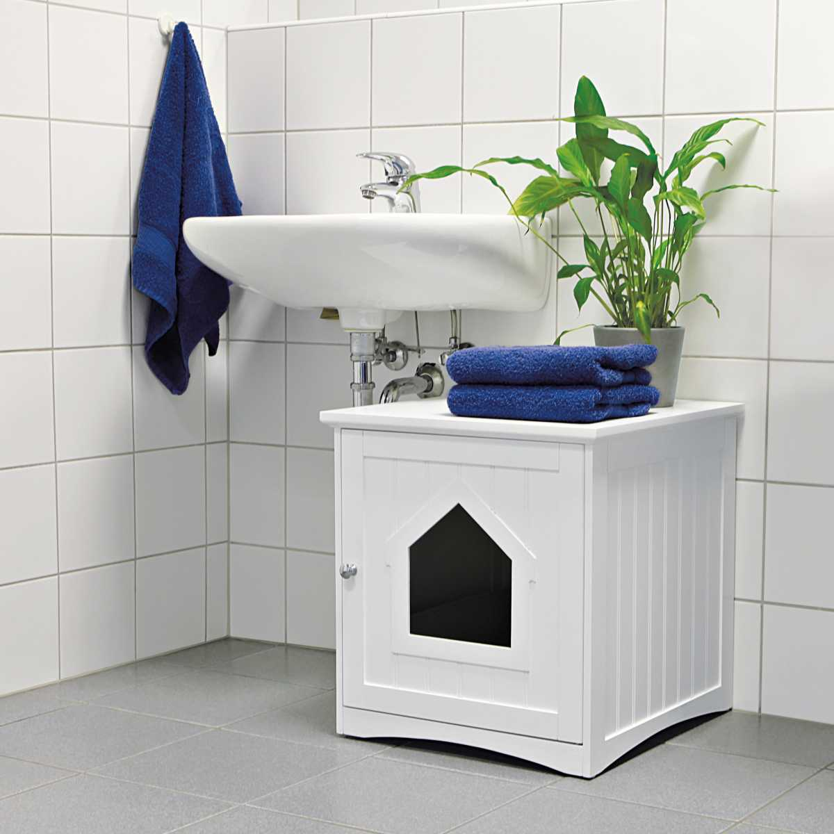 Cat Furniture For Sale Wooden Cat Toilet Litterbox Cabinet White