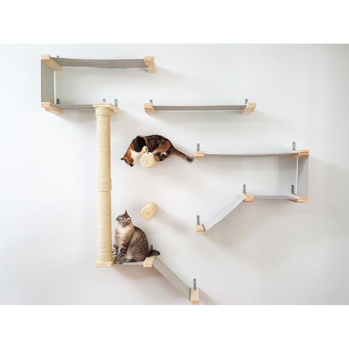 Cat Furniture Wall Thunderdome Wall Mounted Cat Hammock Activity Center