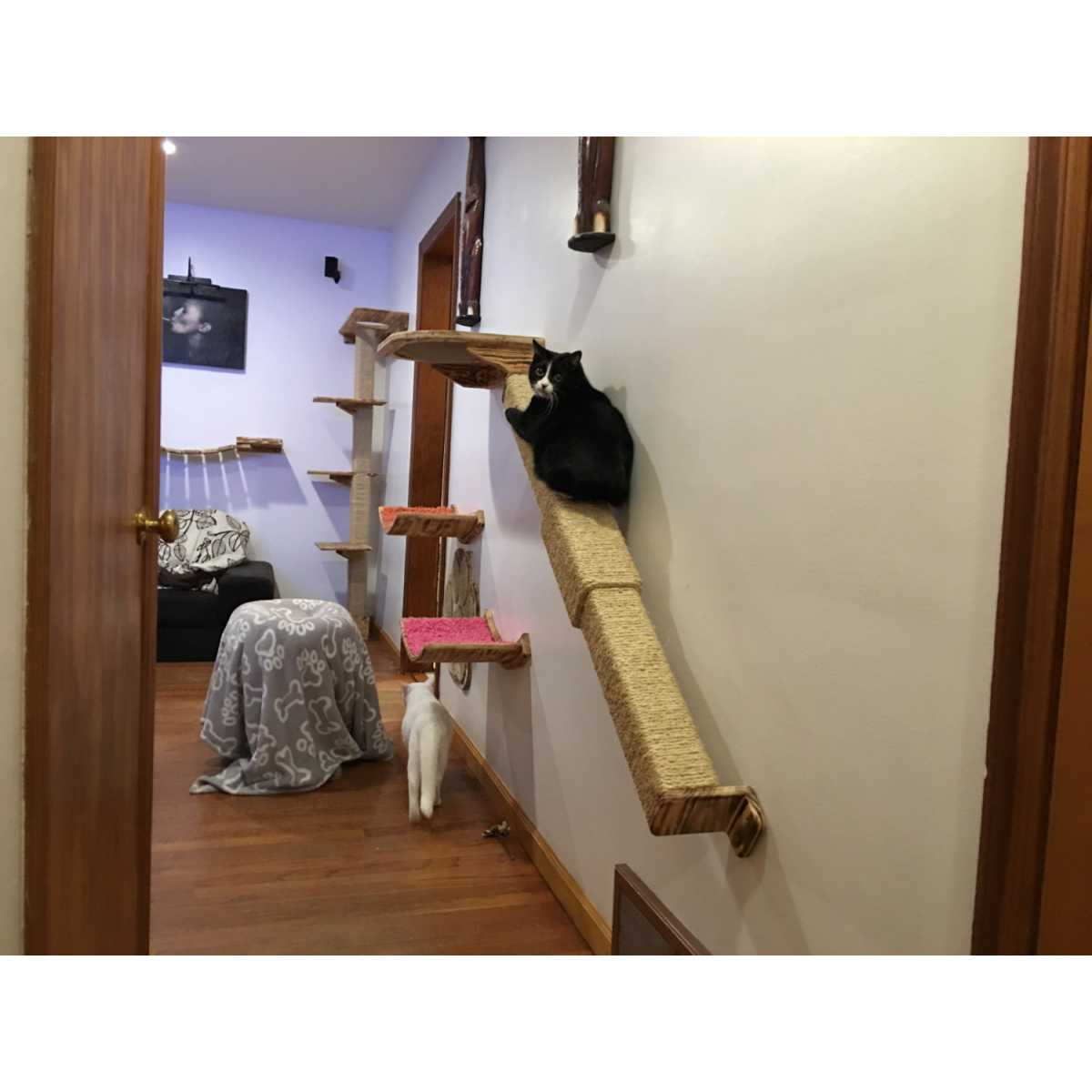 Cat Furniture Wall Modish Wall Mounted Cat Climbing Pole