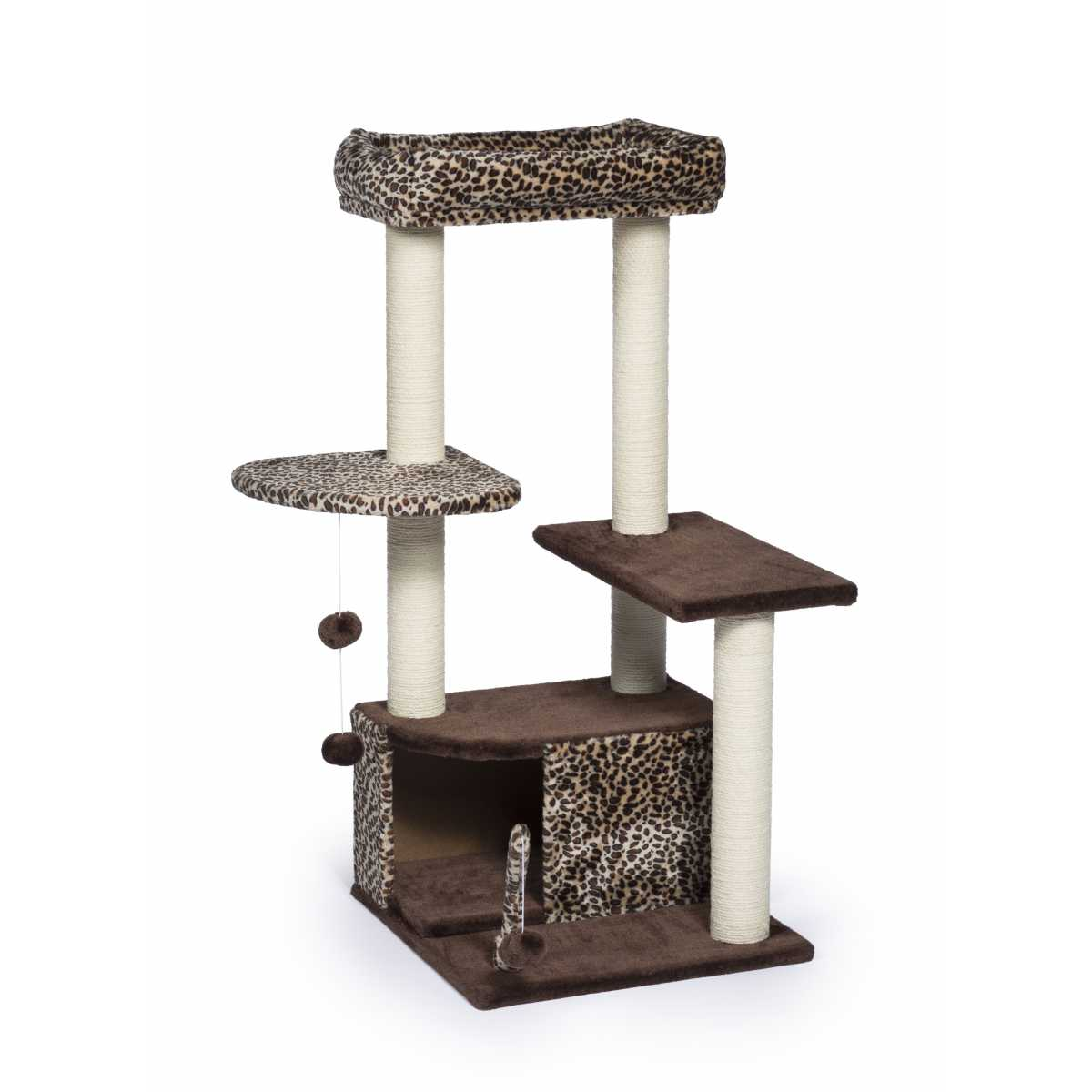 Pretty Cat Furniture Kitty Pretty Paws Leopard Lounge 7306
