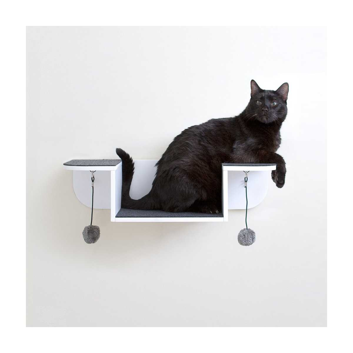 Modern Cat Shelves Modern Cat Wall System 3 Piece Combo Kit
