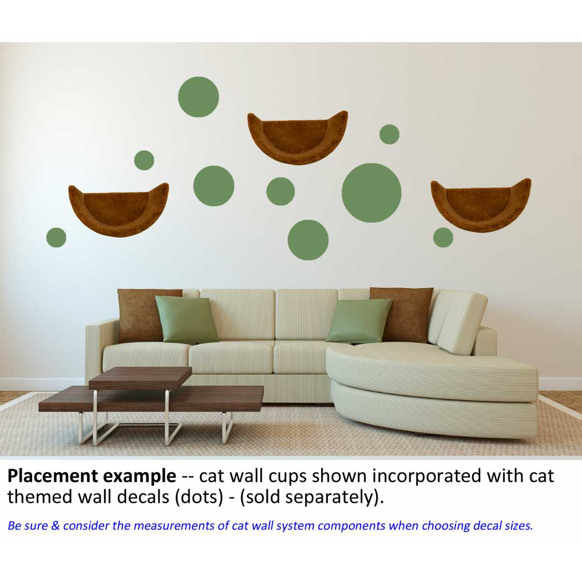 Cat Furniture Wall Cat Themed Wall Accent Decal Dots And Circles