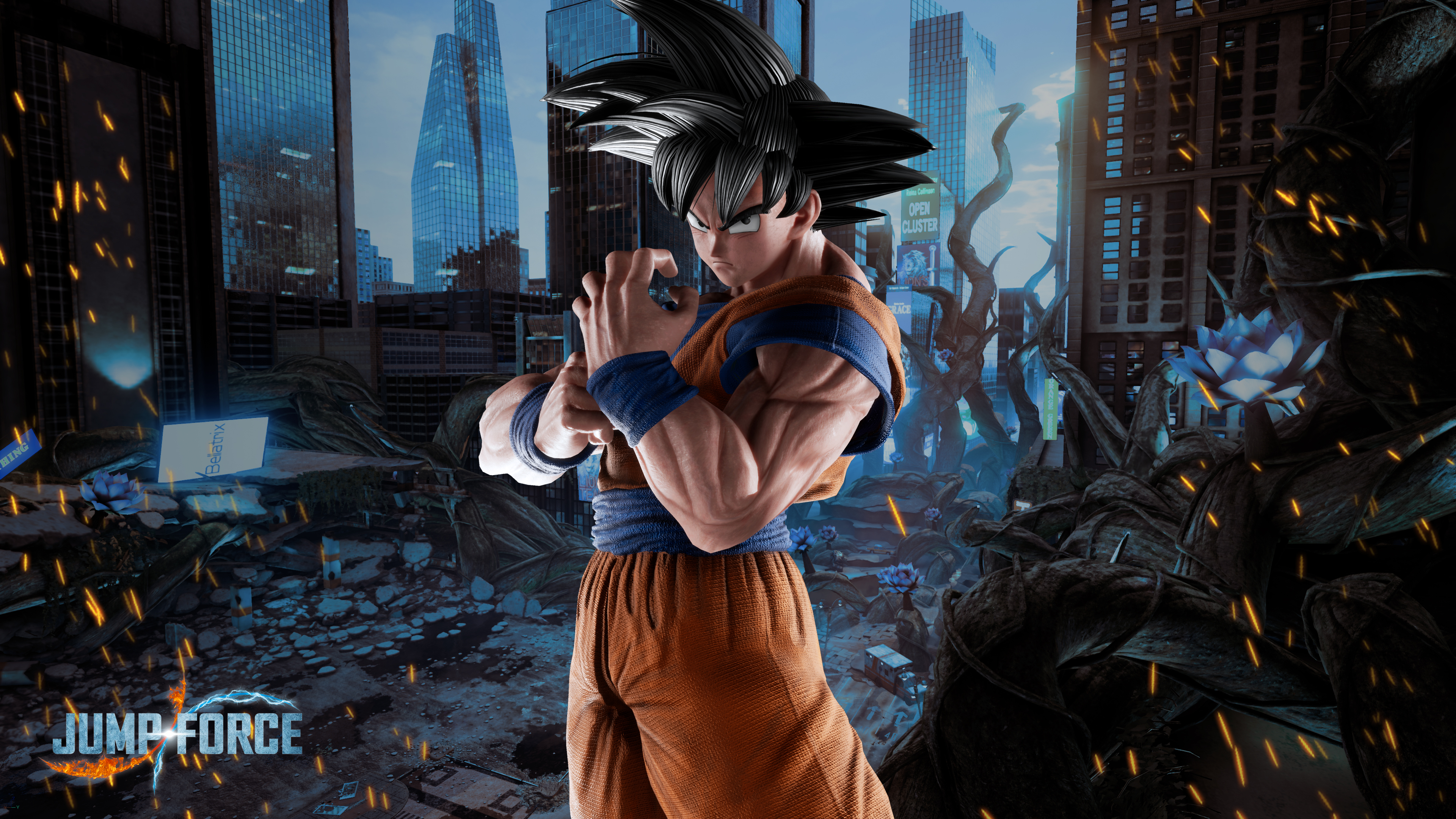 Iphone Se Wallpaper 4k Jump Force Goku Wallpapers Cat With Monocle