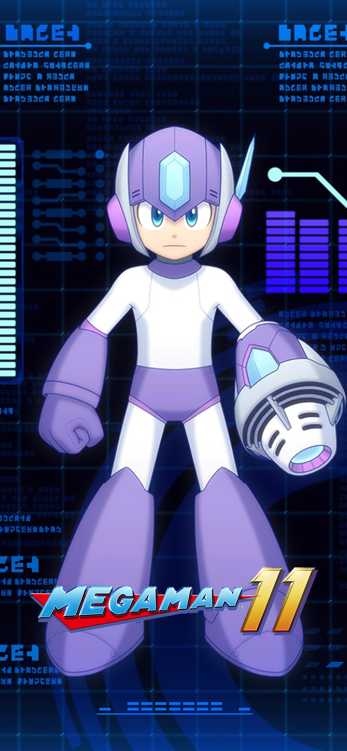 A8 Samsung Mega Man 11 Tundra Storm Weapon Wallpaper | Cat With Monocle