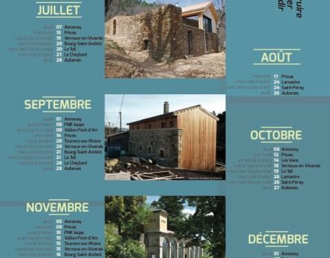 Conseils architecturaux, permanences du 2ème semestre 2016<br><p class=