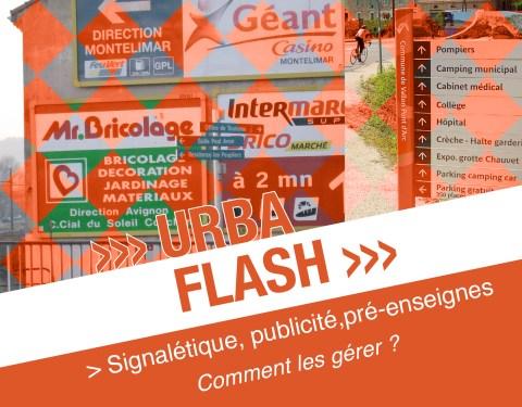 Urba-flash : signalétique, publicité, pré-enseignes<br><p class=