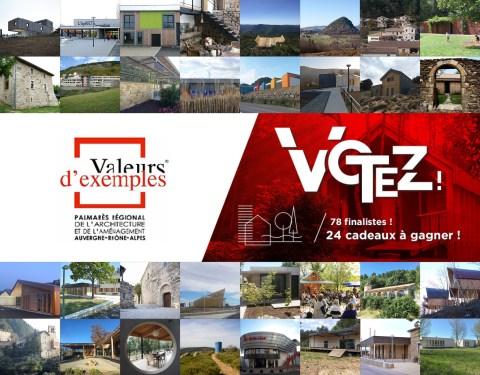 Valeurs d'exemples, palmarès régional de l'architecture et de l'aménagement: Votez!<br><p class=