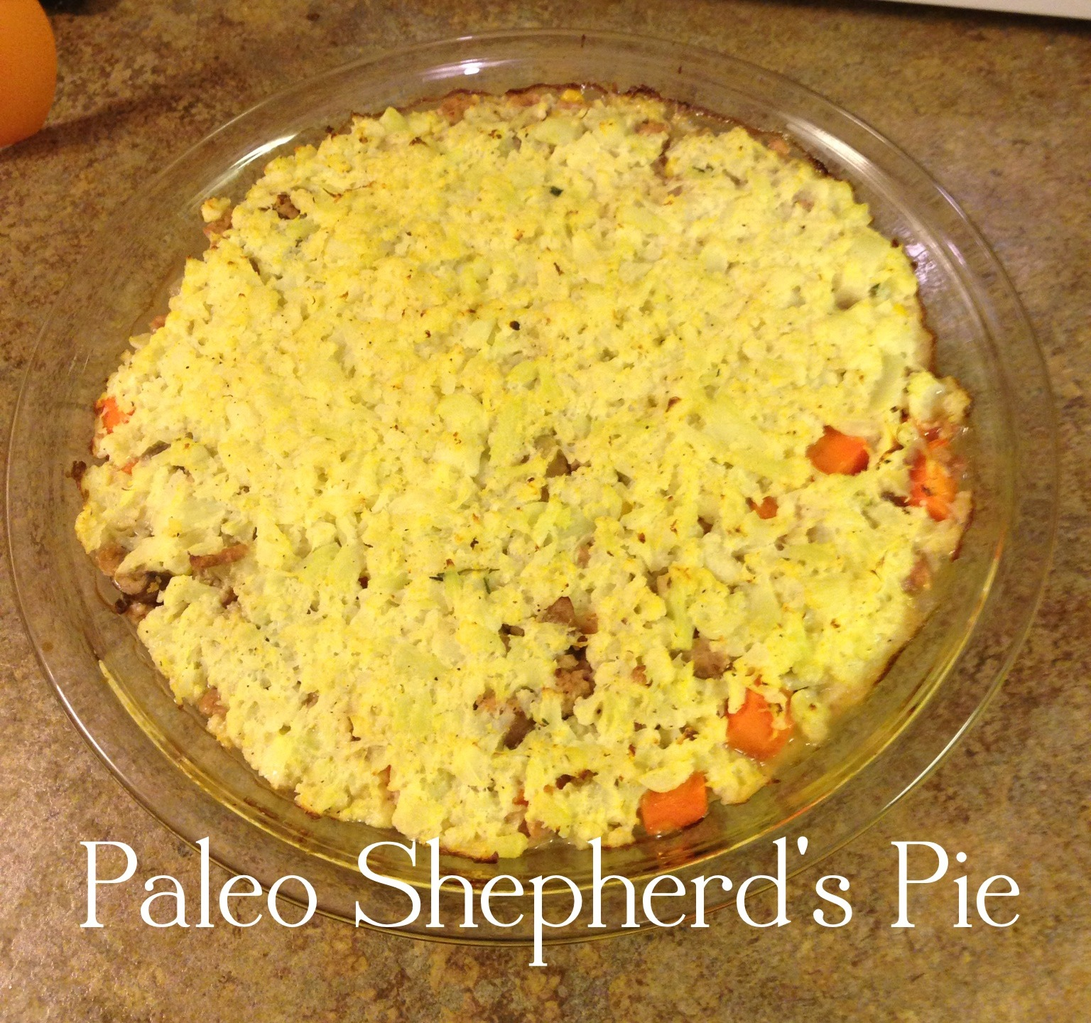 Don't Cave In: Paleo Shepherd's Pie
