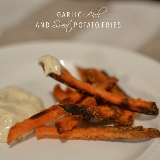 Garlic Aioli and Sweet Potato Fries