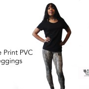 Snake Print PVC Leggings full