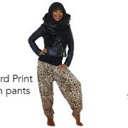 LEOPARD PRINT HAREM PANTS full