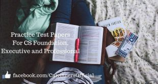 Practice Test Papers For CS Executive Professional Dec 2016