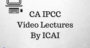 CA IPCC Video Lectures For Nov 2016 Online Classes