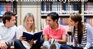 CS Professional Syllabus For Dec 2016 | Download PDF