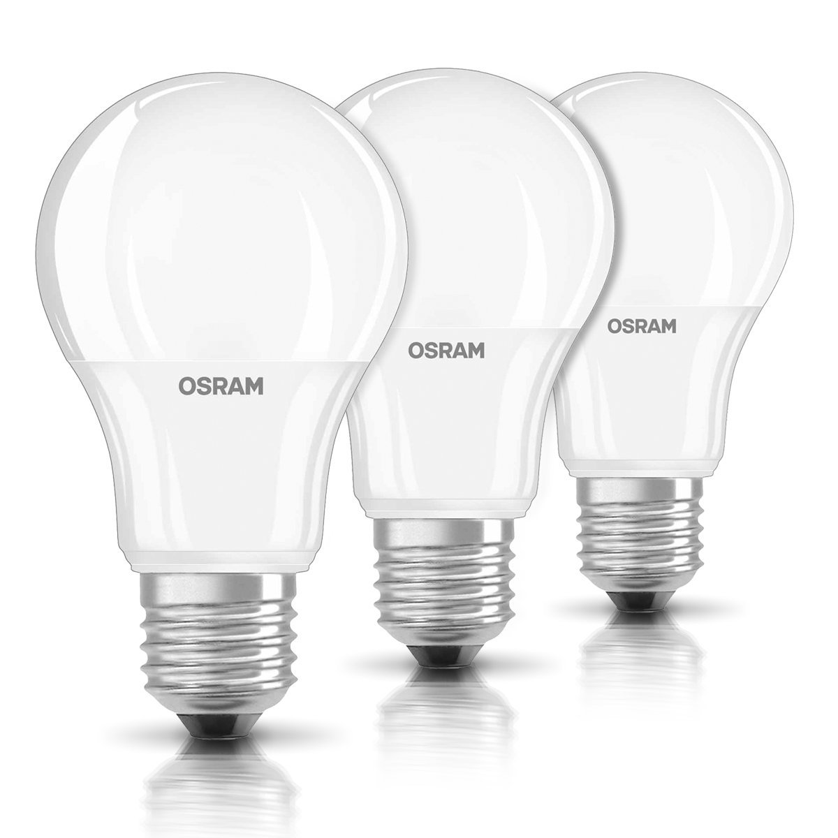 Pack 3 Bombillas Led Osram Base Classic A Casqullo E27 - Casquillo Led