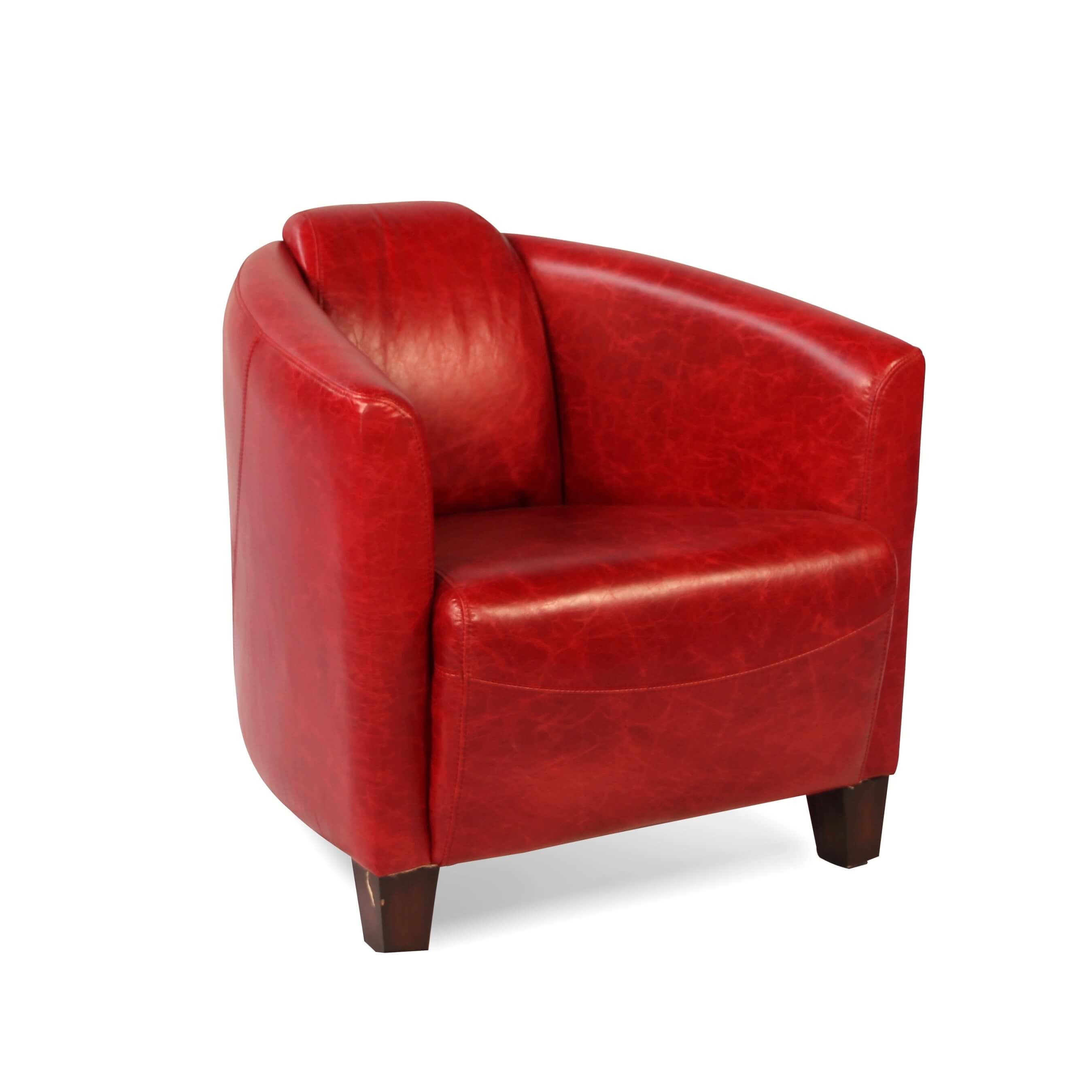 Club Sessel Vintage Clubsessel In Patina Rote Leder Design English Stil