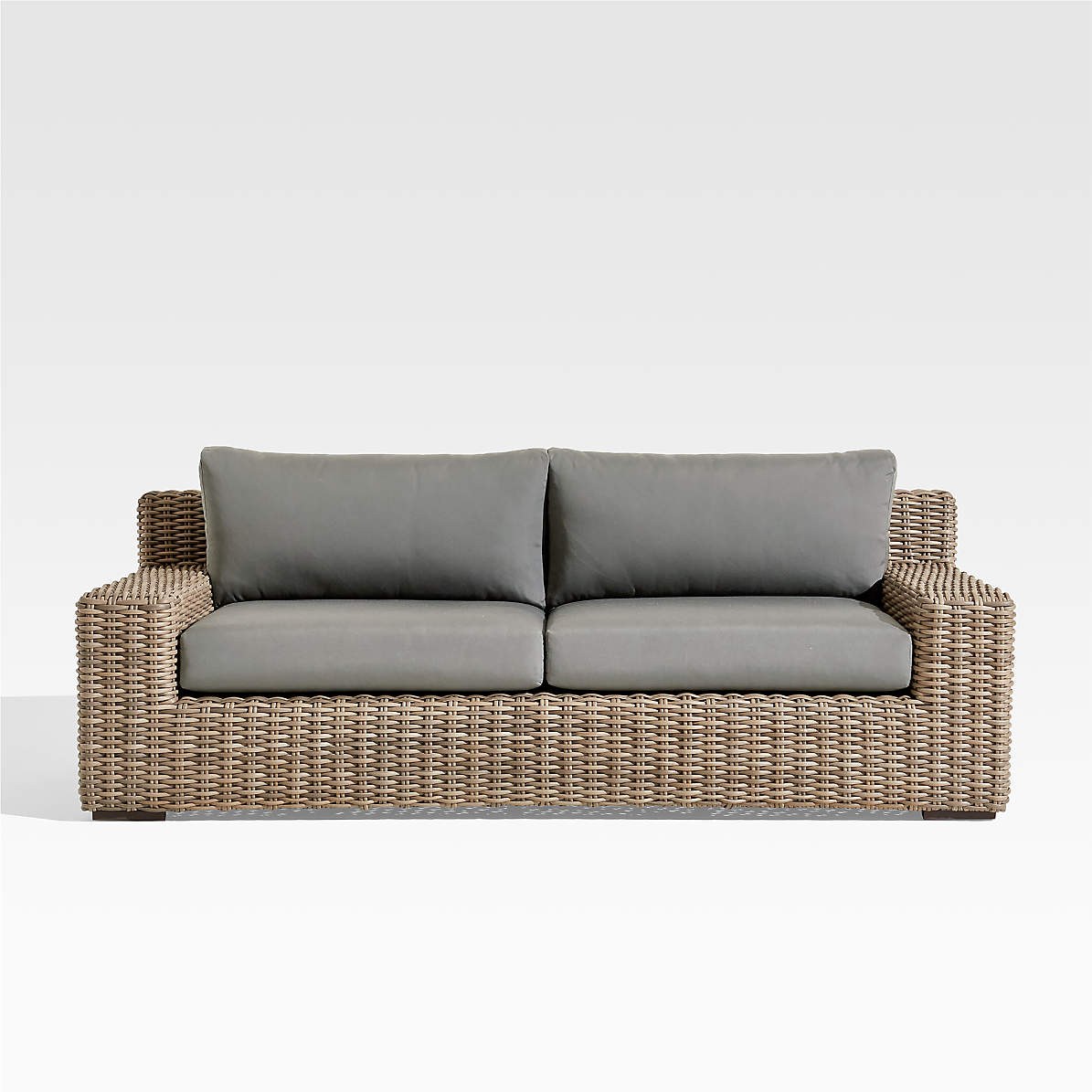 Abaco Outdoor Sofa With Graphite Sunbrella Cushions Reviews Crate And Barrel