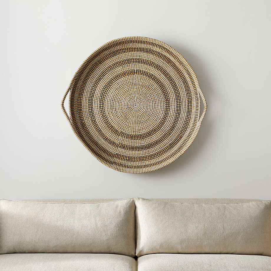 Dana Round Basket Wall Art Reviews Crate And Barrel