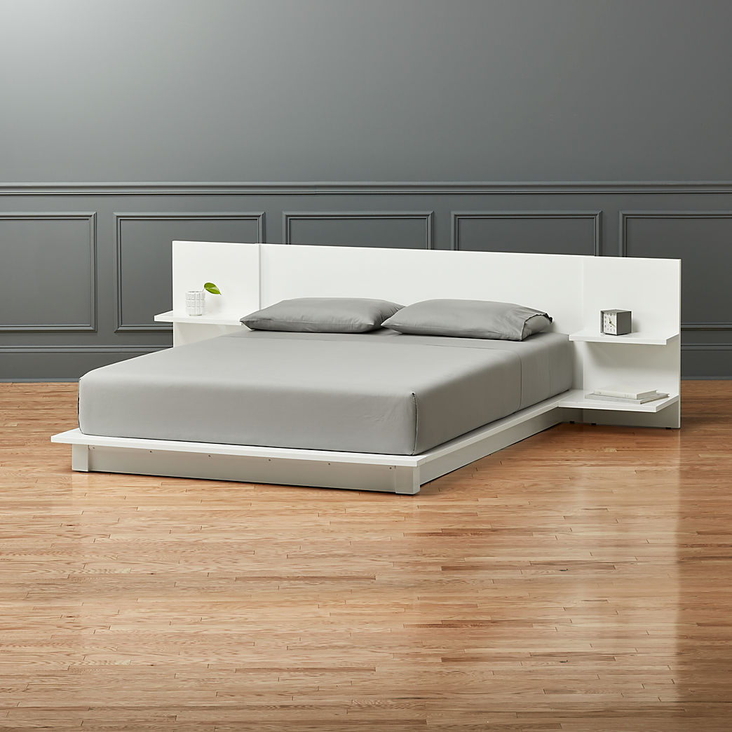 King Size Bed Throws Modern Beds Bed Frames And Headboards Cb2