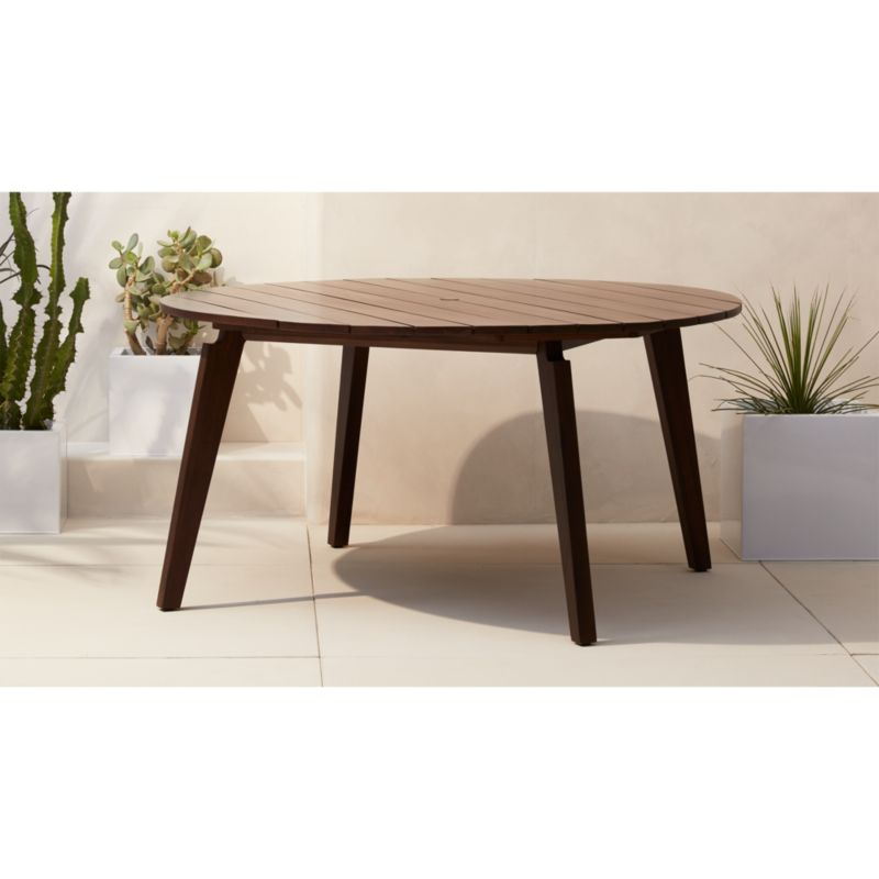 Artemis Outdoor Round Dining Table Reviews Cb2