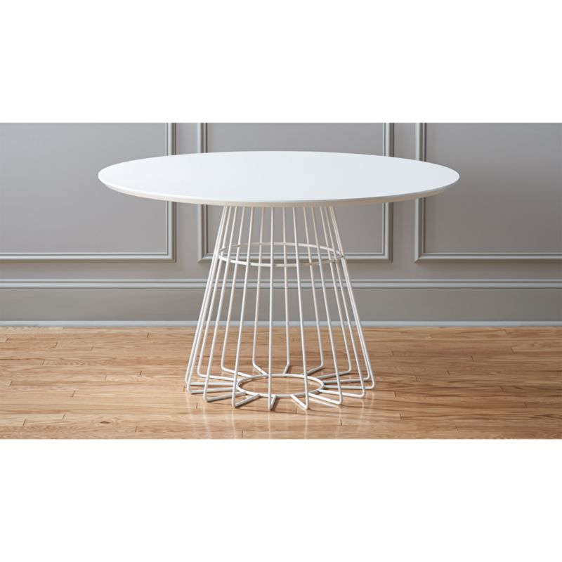 Ferm Living Wire Basket Compass Wire Base Dining Table + Reviews | Cb2