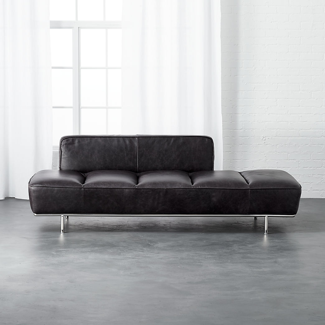 Dahlia 3 Seat Leather Sofa Modern Business Office Furniture Cb2
