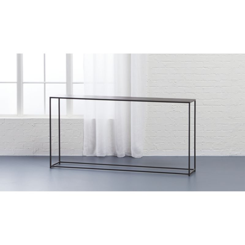 Mill Narrow Console Table Reviews Cb2