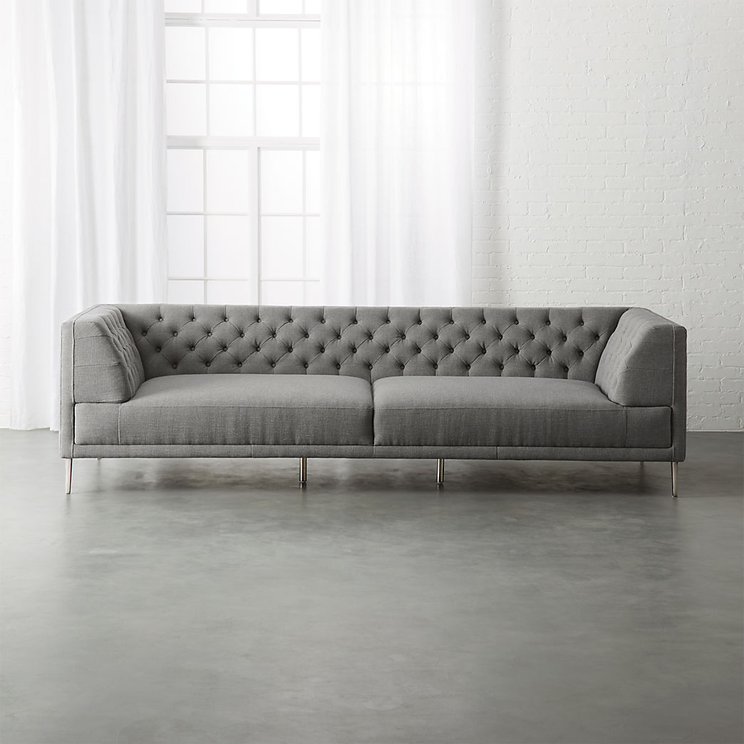 And Sofa Velvet Sofas Cb2