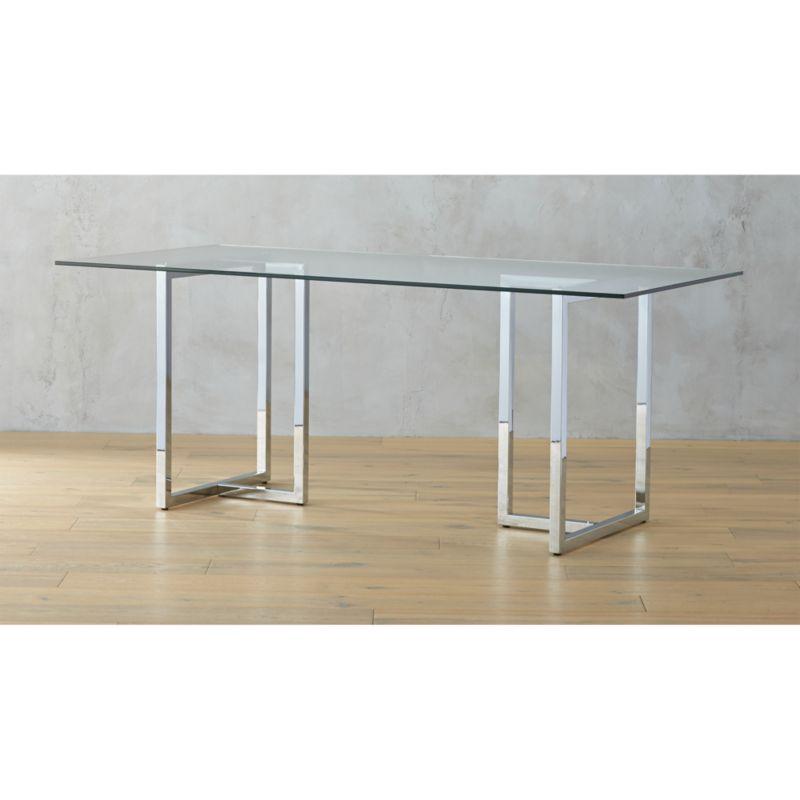 Silverado 72quot Chrome Dining Table Reviews Cb2