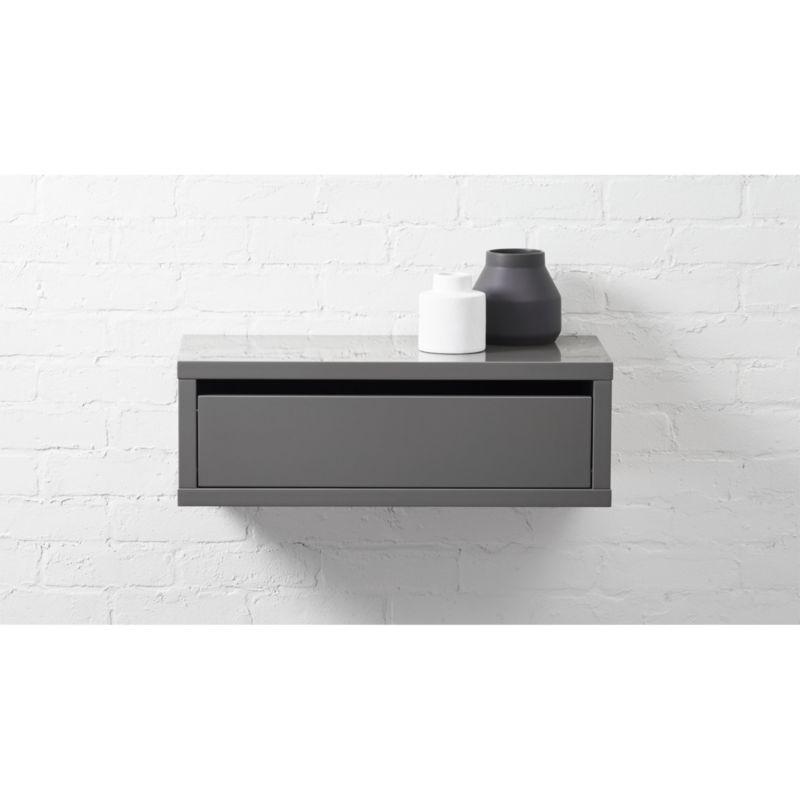 Slice Wall Mounted Nightstand Shelf Reviews Cb2