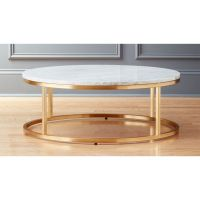 Smart Round Marble Brass Coffee Table + Reviews | CB2