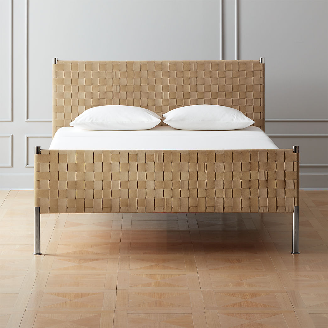 Cheap Wooden Bed Frames Modern Beds Bed Frames And Headboards Cb2