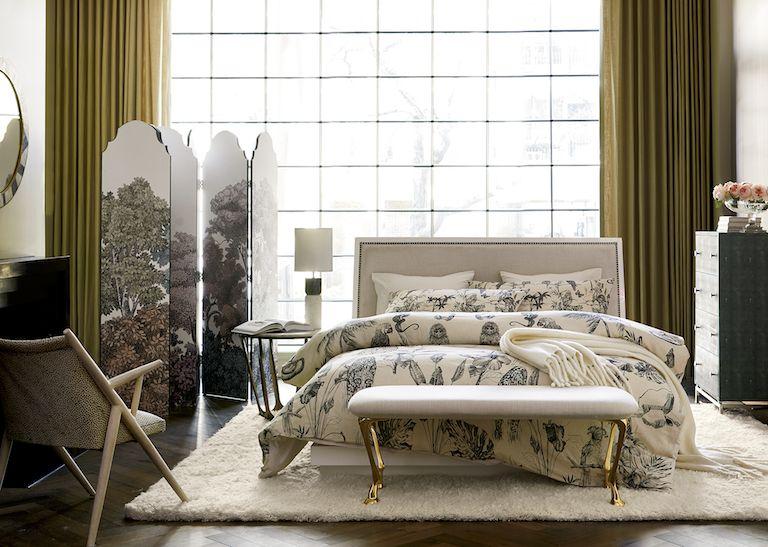 Minimalist Quote Wallpaper Modern Bedroom Ideas Cb2