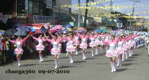 Majorettes Amaze Crowd at Calabanga 2010 Parade